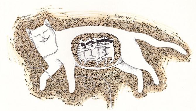 Рисунок 1 - Карикатура кошачьей беременности